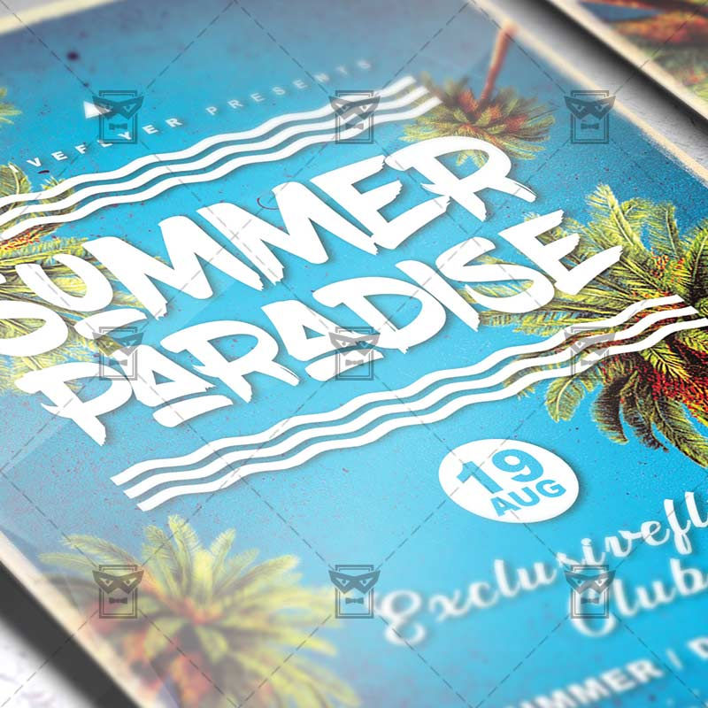 Summer Paradise – Premium Flyer Template + Instagram Size Flyer
