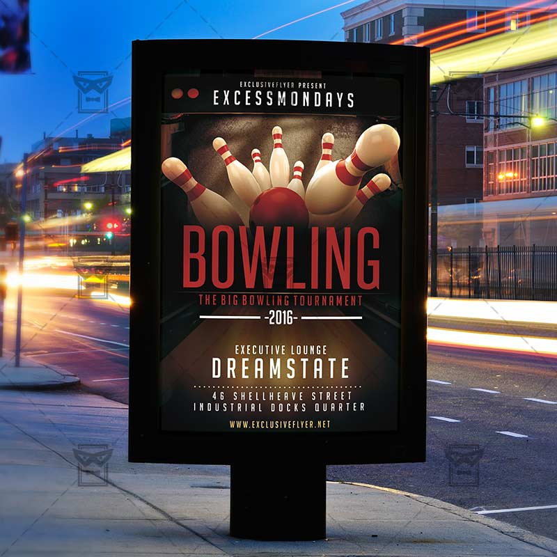 The Big Bowling – Premium Flyer Template + Instagram Size Flyer