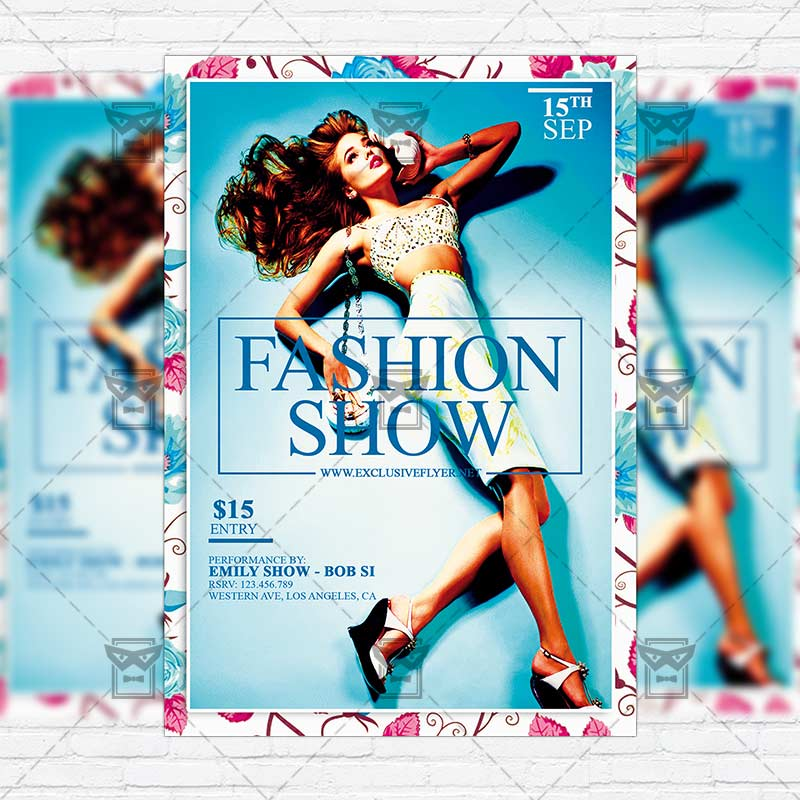 Fashion Show Flyer Templates Free Peopledavidjoel