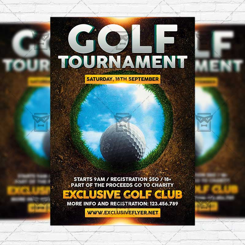 golf tournament premium flyer template instagram size flyer exclsiveflyer free and. Black Bedroom Furniture Sets. Home Design Ideas