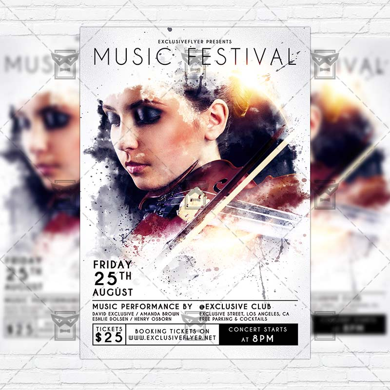 music festival premium flyer template instagram size flyer exclsiveflyer free and. Black Bedroom Furniture Sets. Home Design Ideas