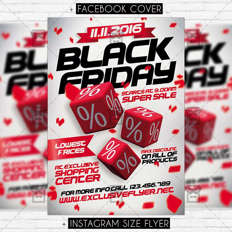 Download Black Friday Super Sale – Premium PSD Flyer Template