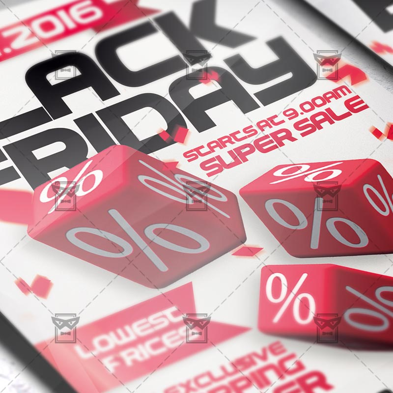Black Friday Super Sale Premium PSD Flyer Template ExclsiveFlyer - Sales flyer template photoshop