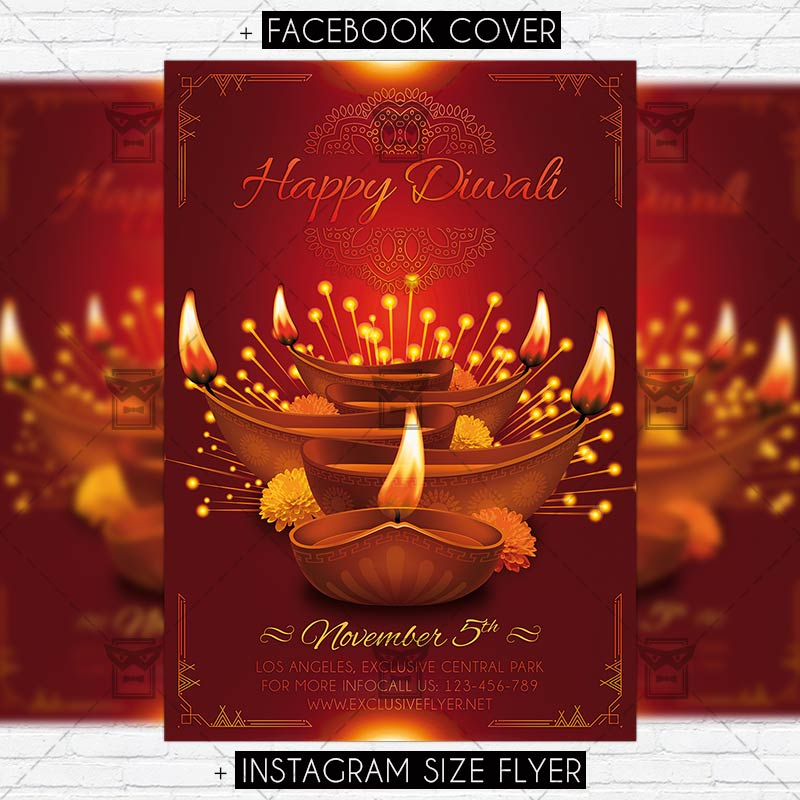 diwali premium psd flyer template exclsiveflyer free and