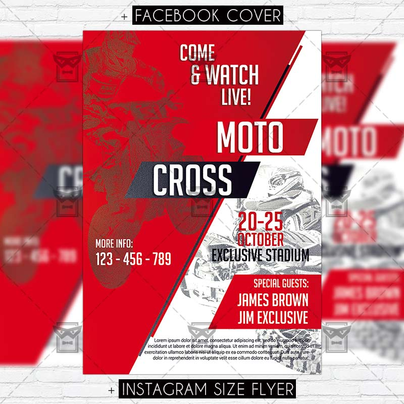 Motocross Premium Psd Flyer Template Exclsiveflyer Free And