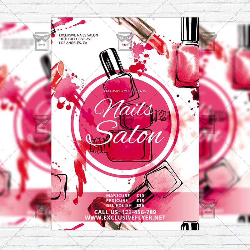 Nails Salon Free Club And Party Flyer Psd Template Exclsiveflyer