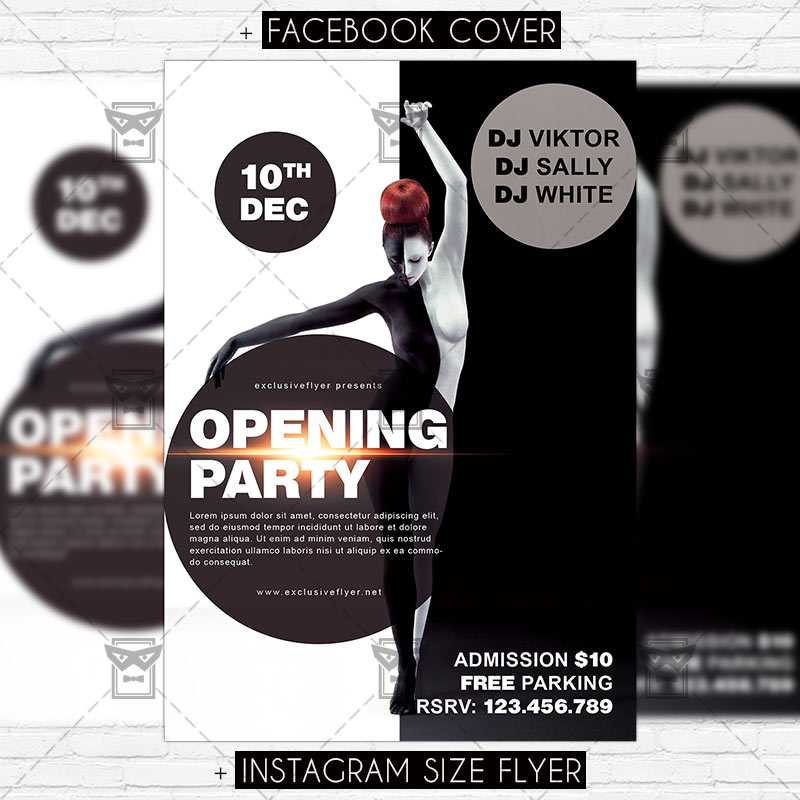 15 Excellent Flyer Templates For Your Next Event: Opening Party €� Premium PSD Flyer Template
