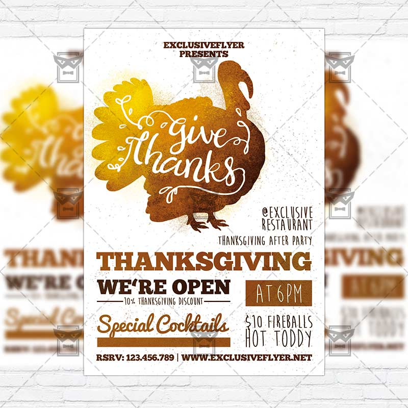 Thanksgiving Day Premium Flyer Template Instagram Size Flyer Exclsiveflyer Free And Premium Psd Templates