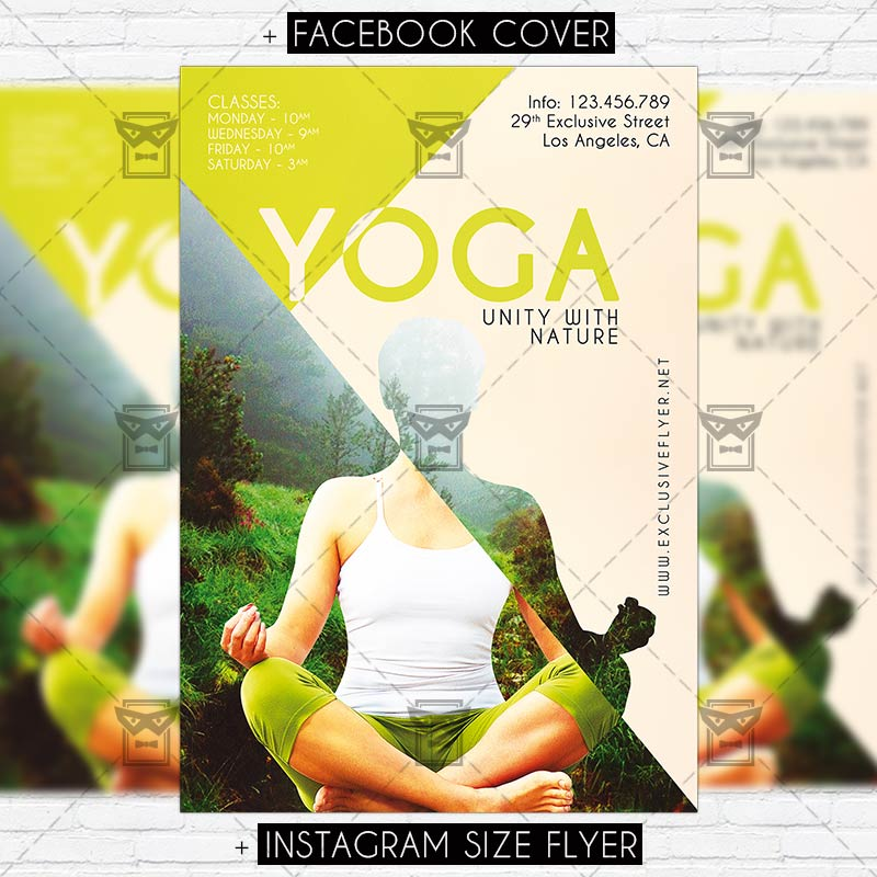 Yoga Premium Psd Flyer Template Exclsiveflyer Free And Premium Psd Templates