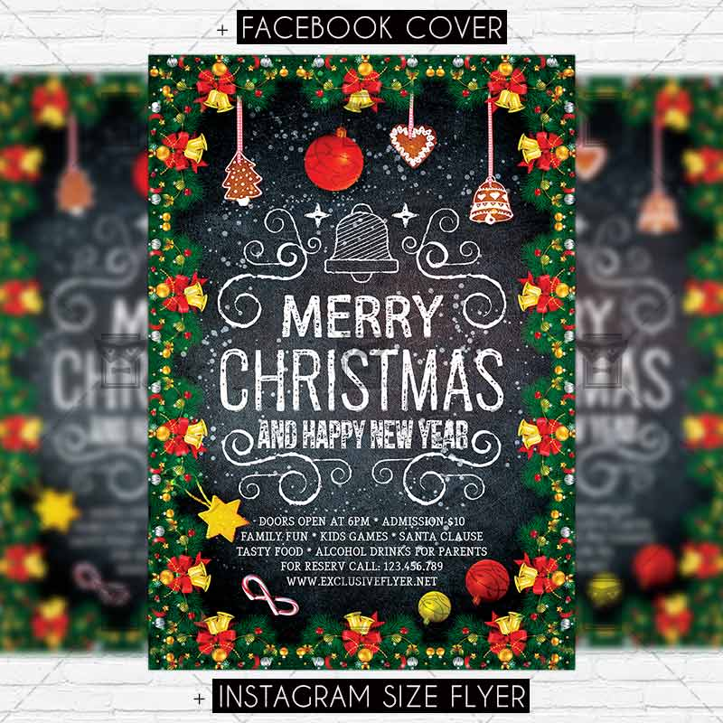 Happy Holidays Premium Flyer Template Exclsiveflyer Free And