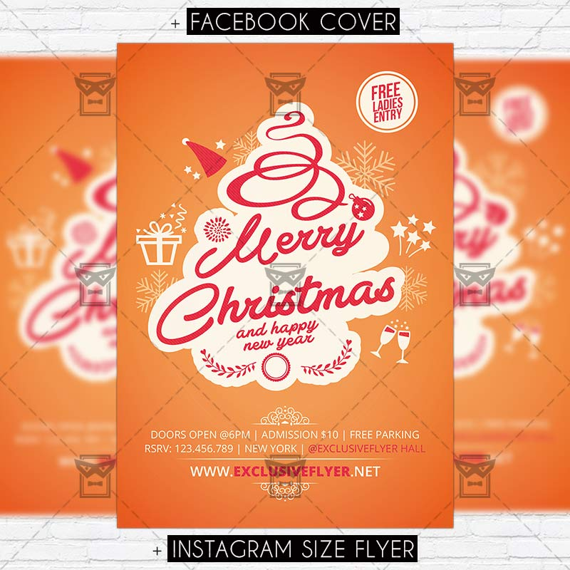 merry christmas psd template