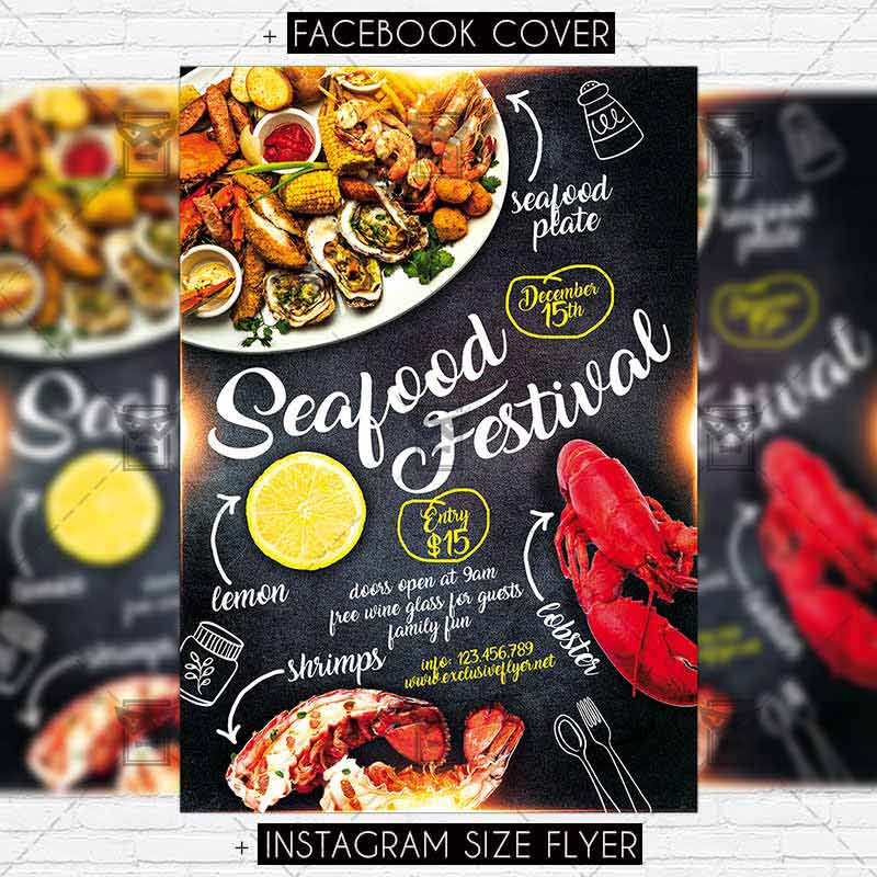Seafood Festival  Premium Flyer Template  Exclsiveflyer  Free