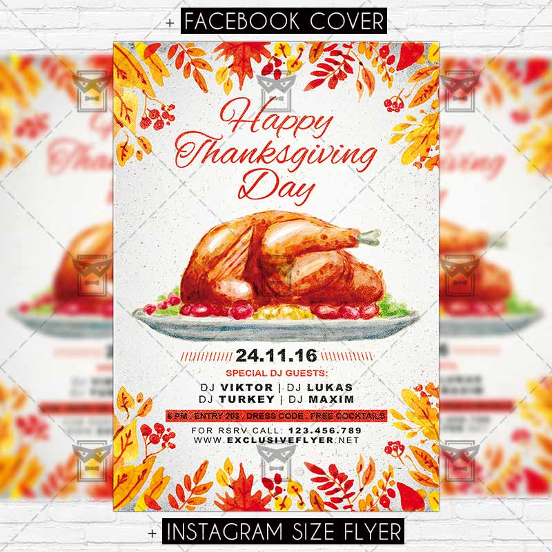 thanksgiving day premium flyer template exclsiveflyer free and premium psd templates. Black Bedroom Furniture Sets. Home Design Ideas