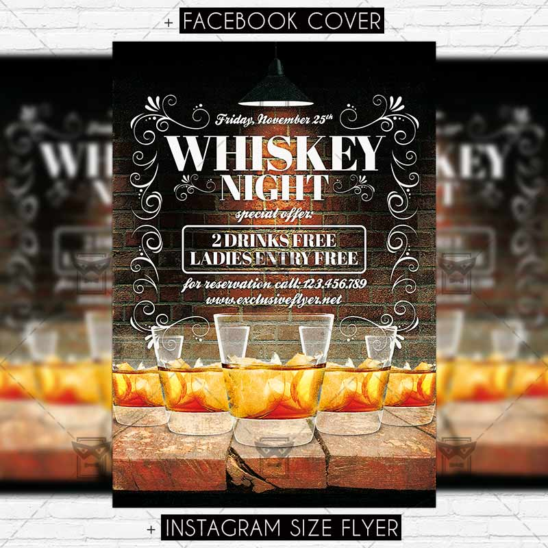 Whiskey Night Premium Flyer Template Exclsiveflyer Free And