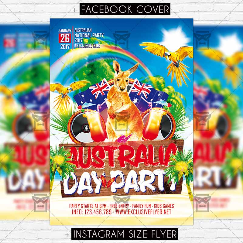 Australia Day Party Premium Flyer Template 1