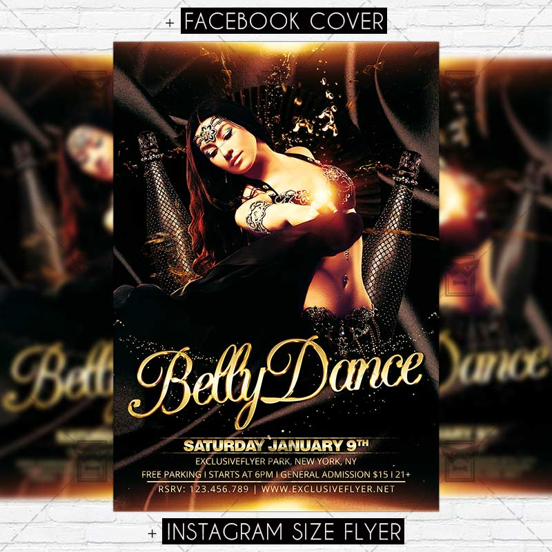 belly dance party premium flyer template exclsiveflyer free