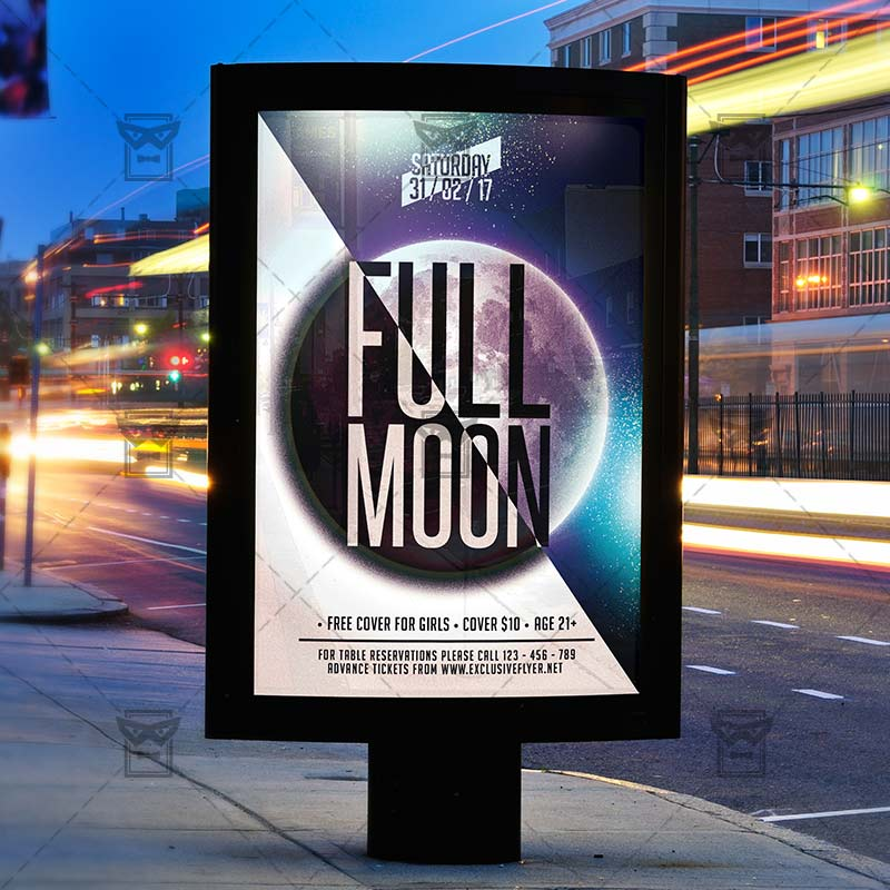 full_moon_party premium flyer template 3
