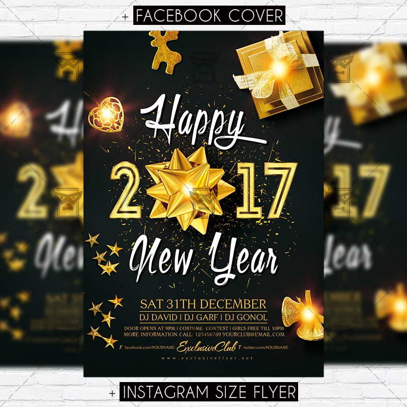happy nye party premium flyer template exclsiveflyer free and