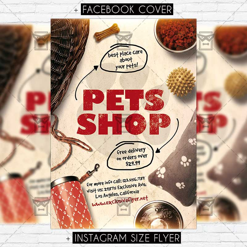 Pets Shop Premium Flyer Template Exclsiveflyer Free And