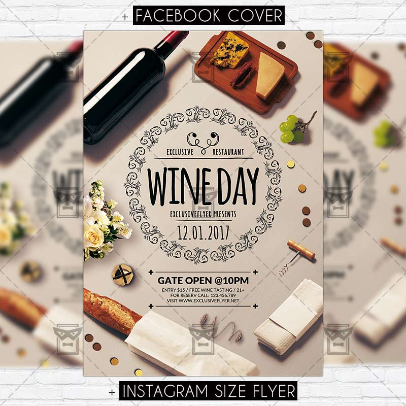 Wine day premium flyer template exclsiveflyer free and premium wineday premium flyer template 1 maxwellsz
