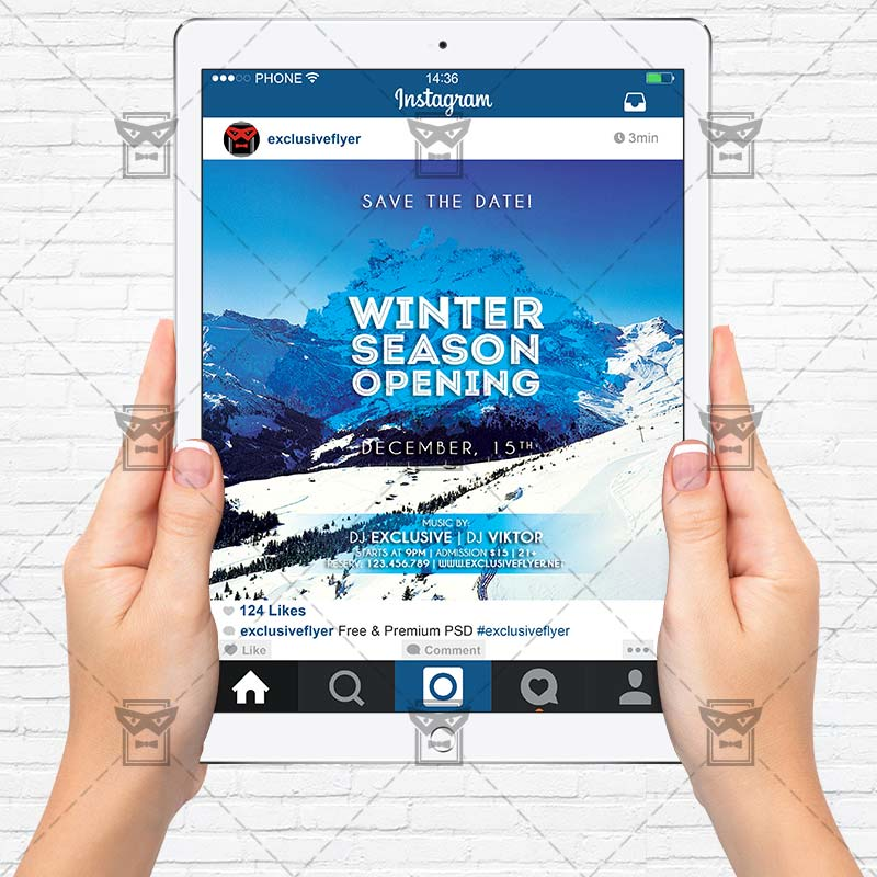 Winter Season Opening – Premium Flyer Template | Exclsiveflyer
