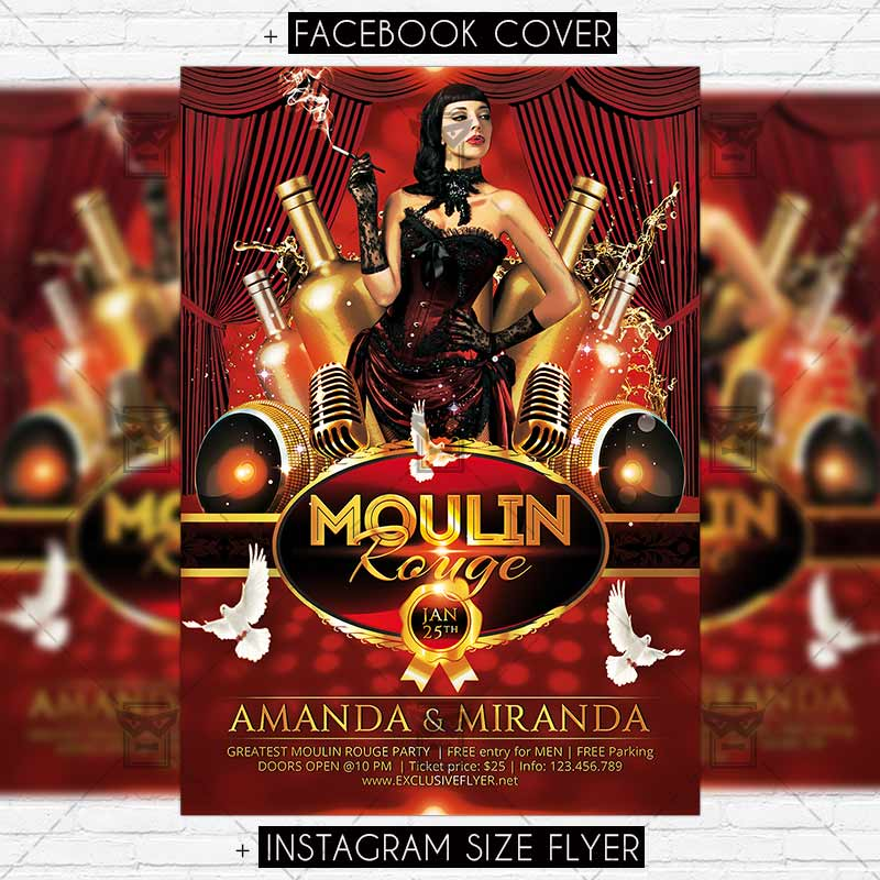 Moulin Rouge – Premium Flyer Template   ExclsiveFlyer   Free and ...