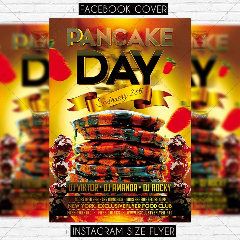 Pancake Day Vol2 Premium Flyer Template Exclsiveflyer Free And