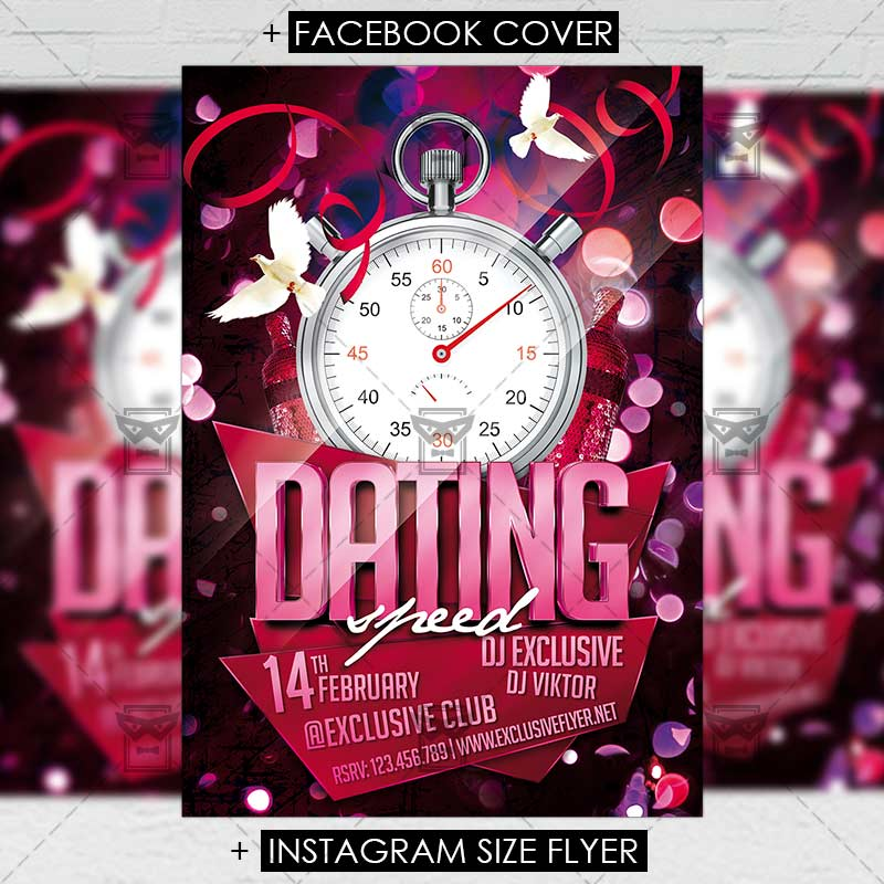 speed dating event flyer