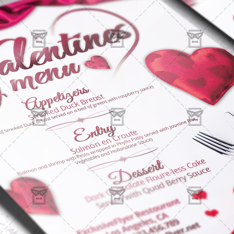 Valentines Day Menu – Premium Flyer Template | ExclsiveFlyer | Free ...