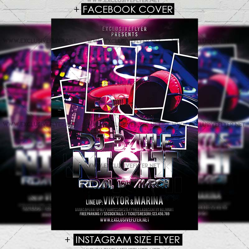 Dj Battle Night – Premium Flyer Template | ExclsiveFlyer | Free and ...