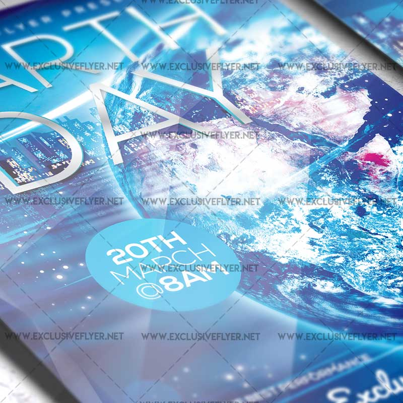 Earth Day Celebration  Premium Flyer Template  Exclsiveflyer