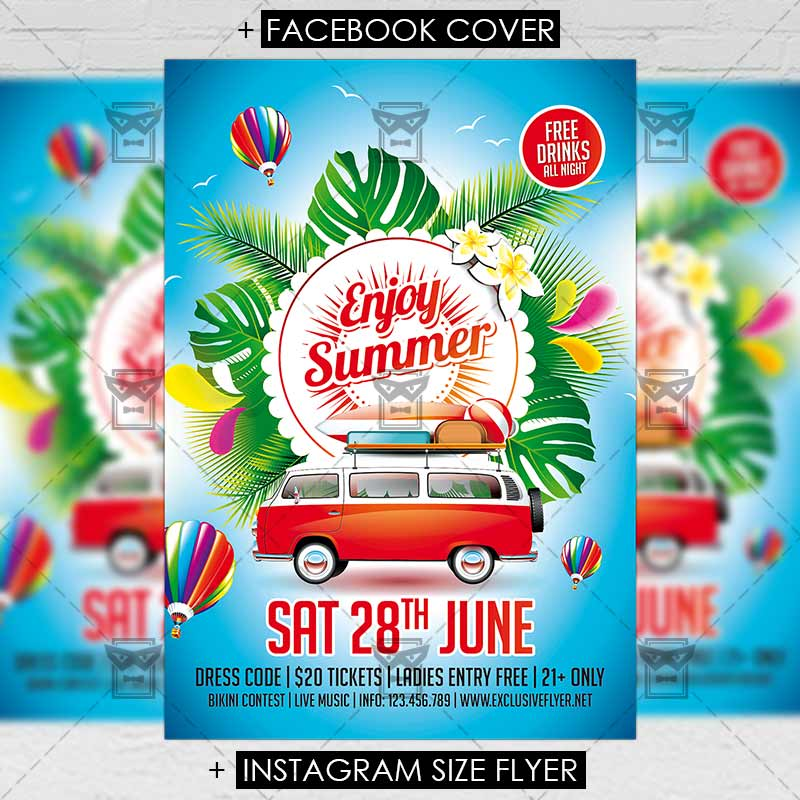 Enjoy Summer  Premium Flyer Template  Exclsiveflyer  Free And