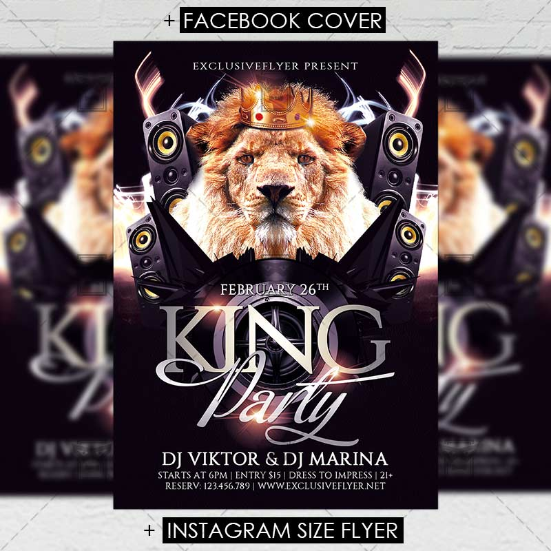 king party premium flyer template exclsiveflyer free and