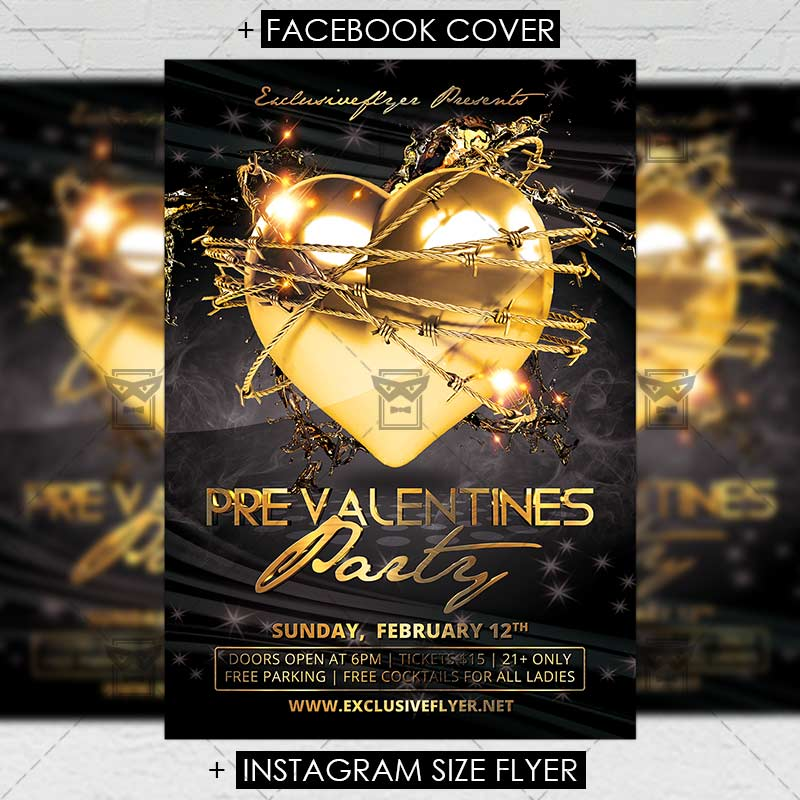 Pre Valentines Party Premium Flyer Template Exclsiveflyer Free