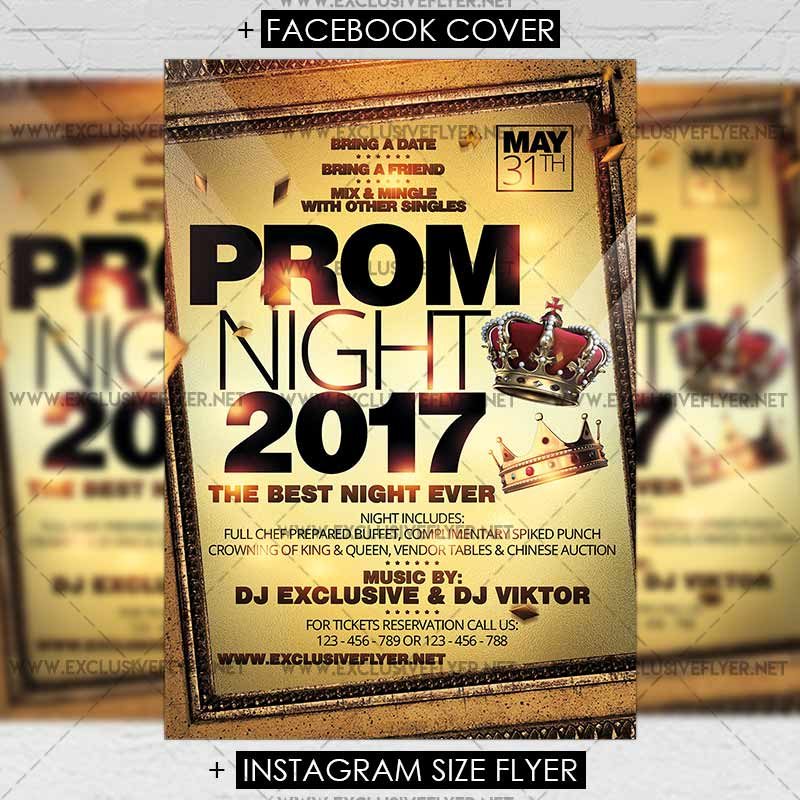 Prom Night Premium Flyer Template ExclsiveFlyer Free And - Free meet and greet flyer template