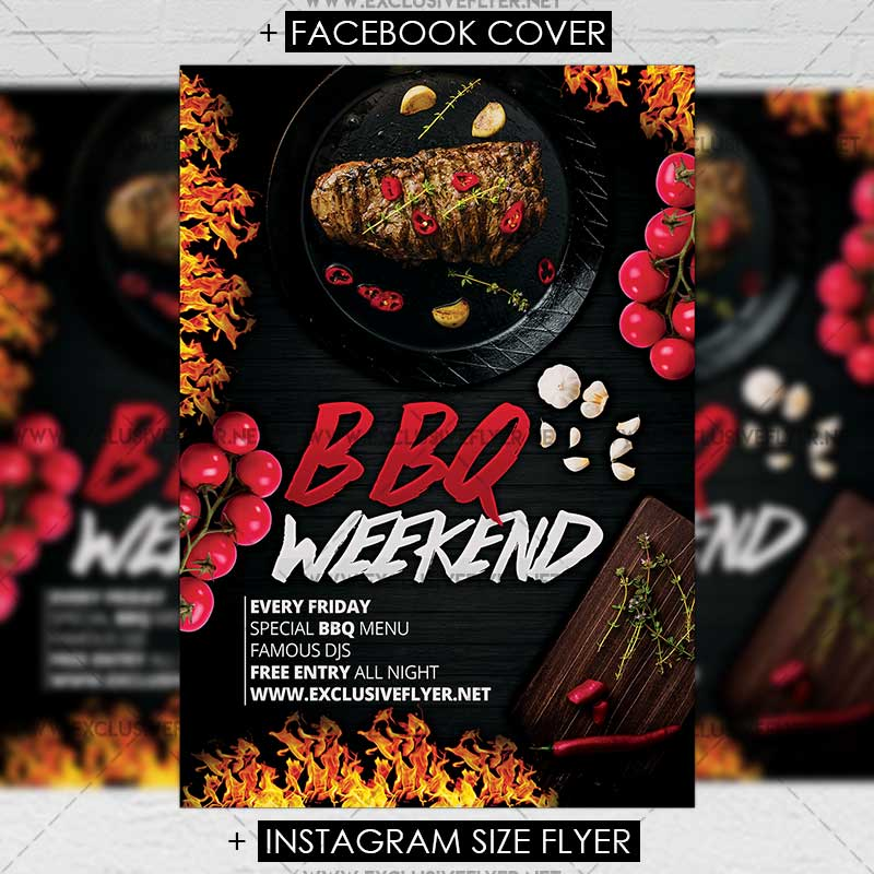 Bbq Weekend Premium A5 Flyer Template Exclsiveflyer Free And