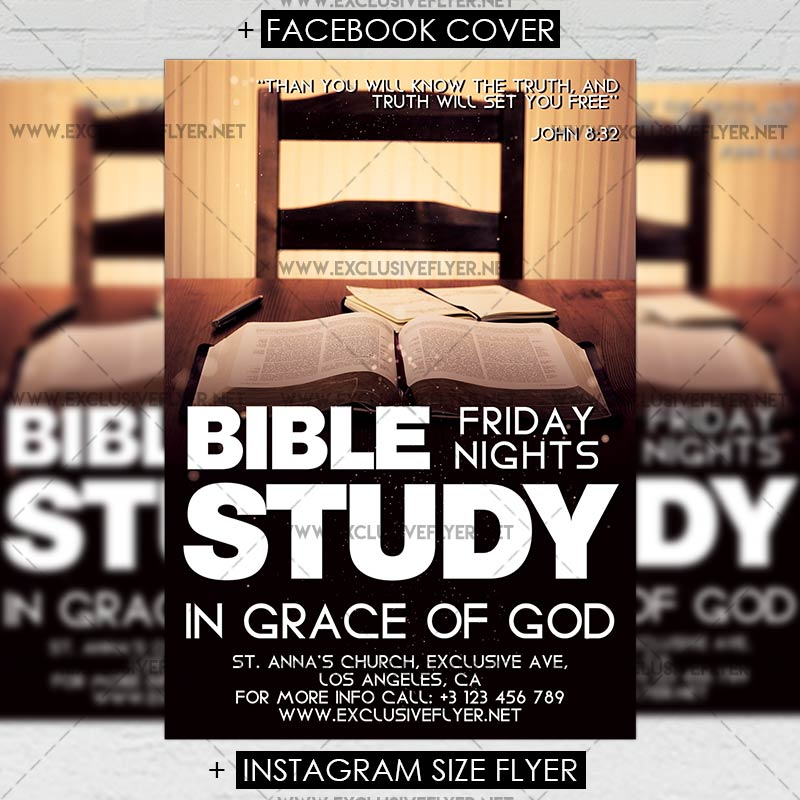 Bible Study Premium A5 Flyer Template Exclsiveflyer Free And