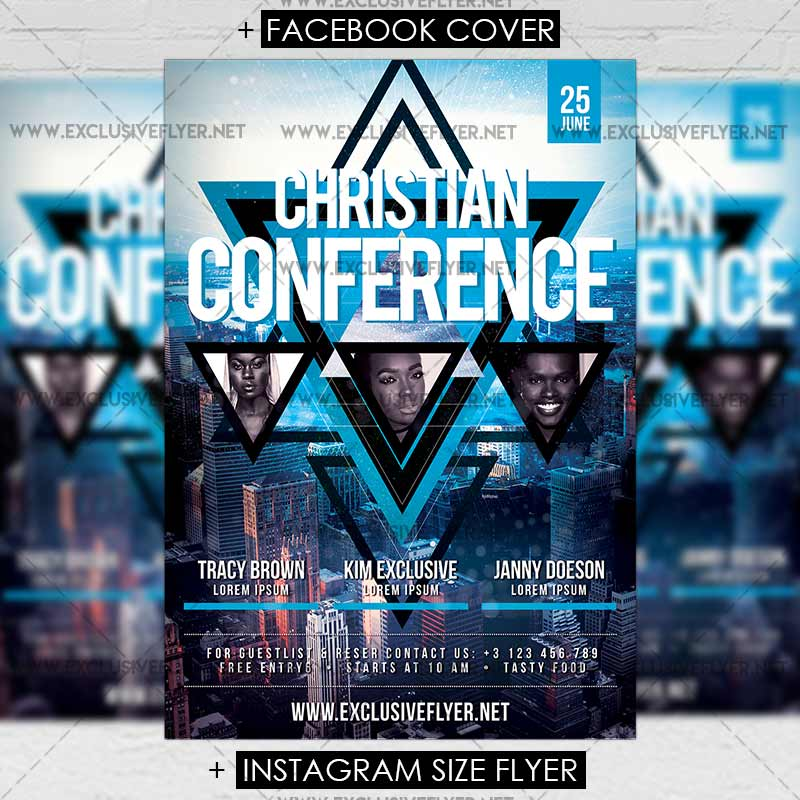 Christian Conference Premium A5 Flyer Template Exclsiveflyer