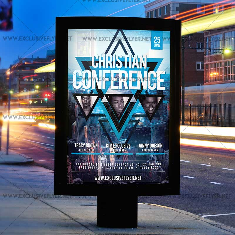 Christian Conference Premium A5 Flyer Template – Conference Flyer Template