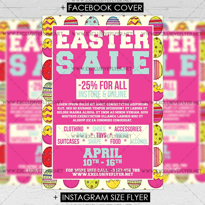 Easter Sale – Premium A5 Flyer Template | Exclsiveflyer | Free And
