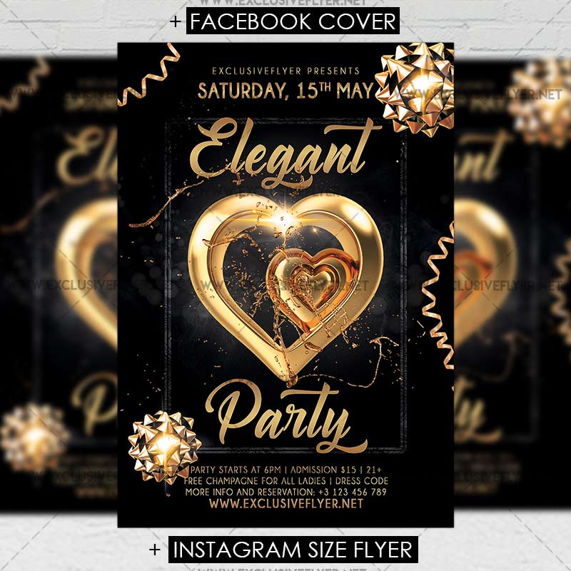Elegant Party – Premium A5 Flyer Template | ExclsiveFlyer | Free ...