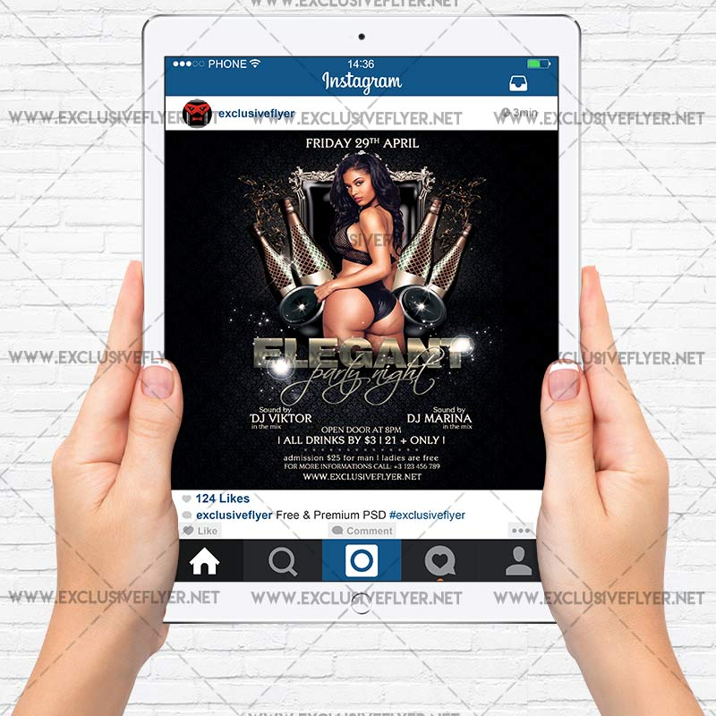 Elegant Party Night – Premium A5 Flyer Template   ExclsiveFlyer ...