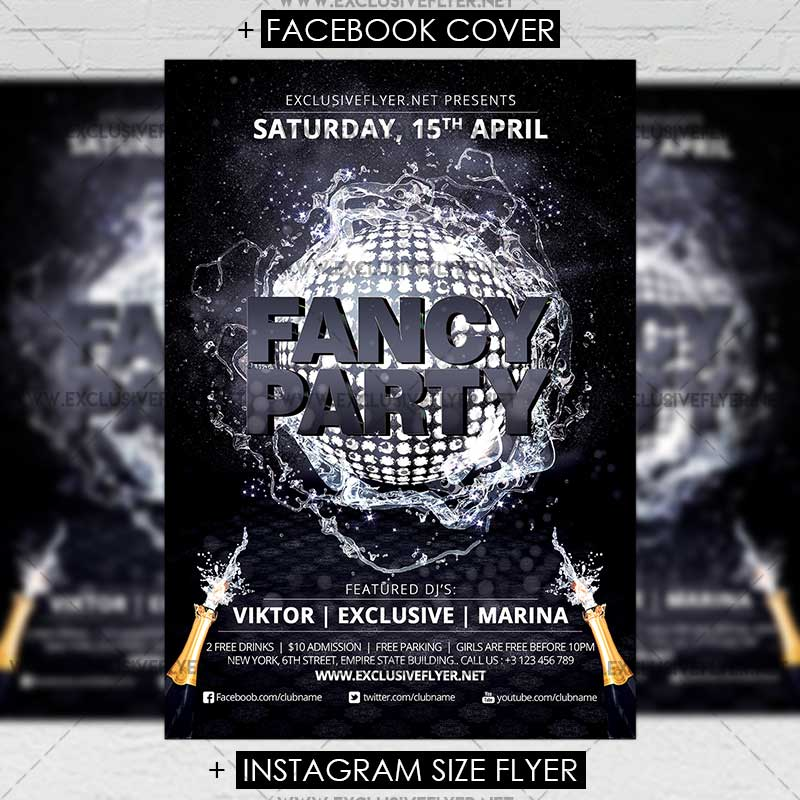fancy party premium a5 flyer template exclsiveflyer free and