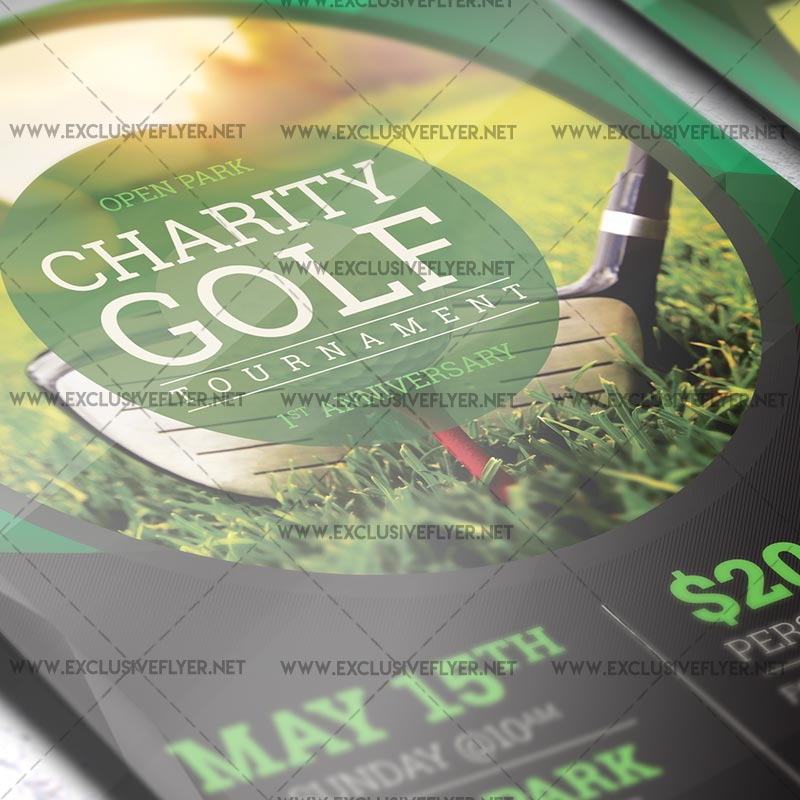 golf tournament premium a5 flyer template exclsiveflyer free and premium psd templates. Black Bedroom Furniture Sets. Home Design Ideas