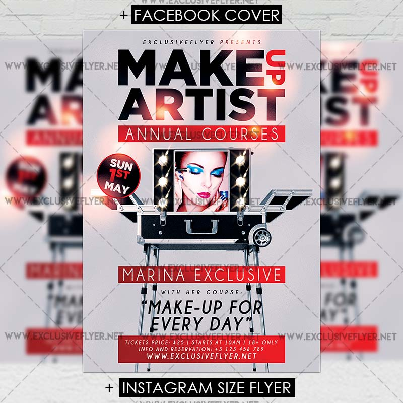 Make Up Artist Premium A5 Flyer Template Exclsiveflyer Free