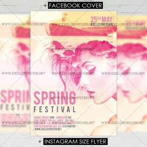 Spring Festival - Premium A5 Flyer Template-1