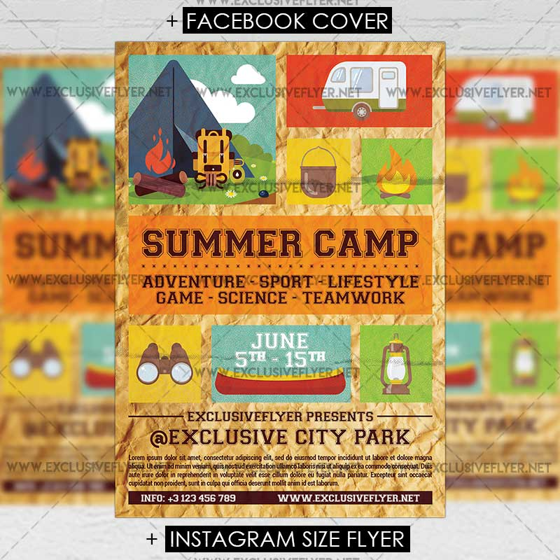 Summer Camp – Premium A5 Flyer Template | Exclsiveflyer | Free And