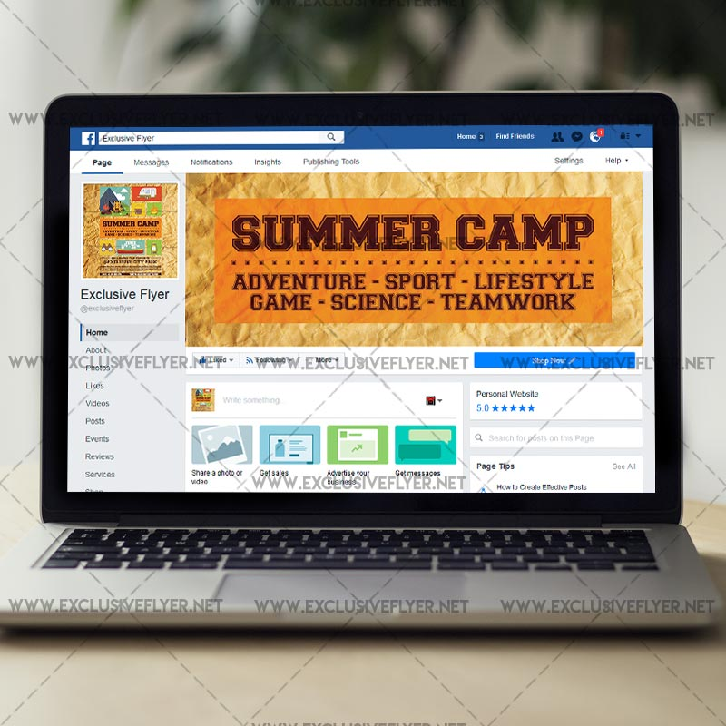 Summer Camp  Premium A Flyer Template  Exclsiveflyer  Free And