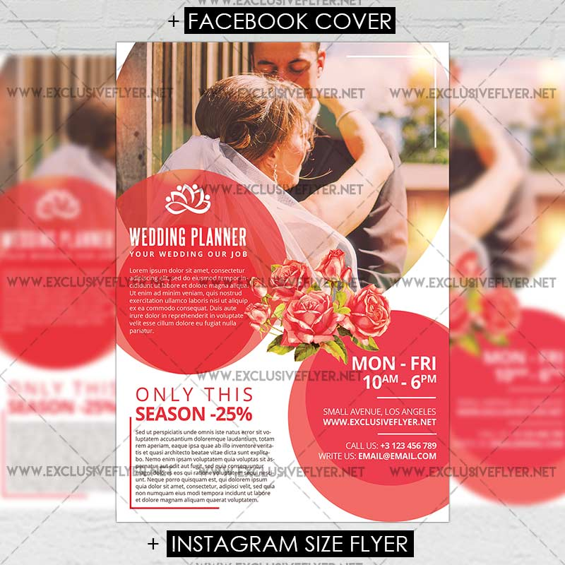 Wedding Planner Premium A Flyer Template ExclsiveFlyer Free - A5 brochure template