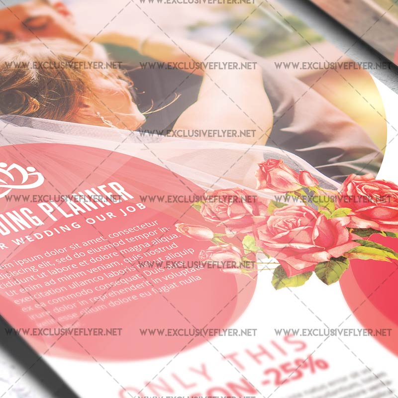 Wedding Planner Premium A5 Flyer Template